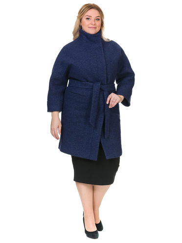 Текстильное пальто 70%шерсть,30%п,а, цвет темно-синий, арт. 26902703  - цена 3590 руб.  - магазин TOTOGROUP