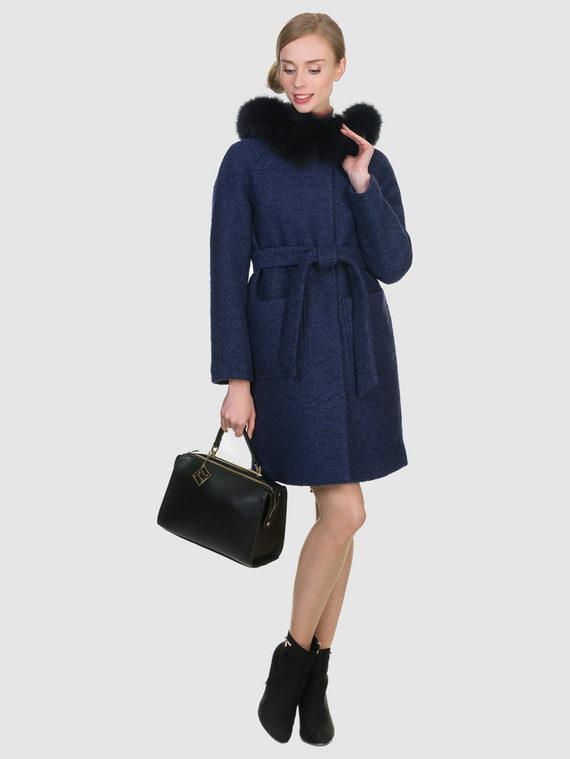 Текстильное пальто 70%шерсть,30%п,а, цвет темно-синий, арт. 26902704  - цена 6990 руб.  - магазин TOTOGROUP