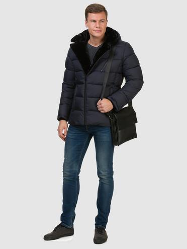 Пуховик текстиль, цвет темно-синий, арт. 26902733  - цена 6990 руб.  - магазин TOTOGROUP