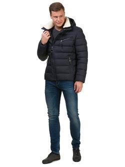 Пуховик текстиль, цвет темно-синий, арт. 26902734  - цена 6990 руб.  - магазин TOTOGROUP