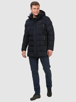 Пуховик текстиль, цвет темно-синий, арт. 26902735  - цена 6630 руб.  - магазин TOTOGROUP
