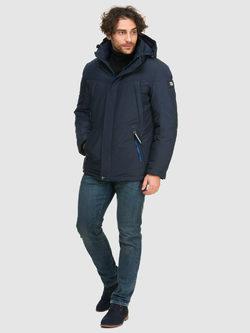 Пуховик текстиль, цвет темно-синий, арт. 26902738  - цена 4990 руб.  - магазин TOTOGROUP