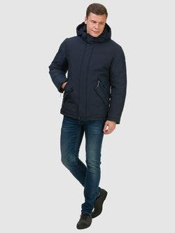 Пуховик текстиль, цвет темно-синий, арт. 26902739  - цена 6290 руб.  - магазин TOTOGROUP