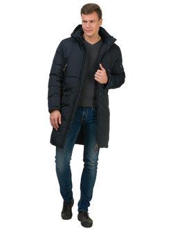 Пуховик текстиль, цвет темно-синий, арт. 26902740  - цена 6990 руб.  - магазин TOTOGROUP