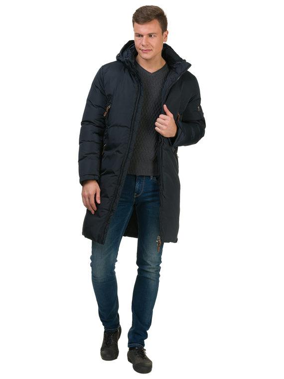 Пуховик текстиль, цвет темно-синий, арт. 26902740  - цена 4490 руб.  - магазин TOTOGROUP