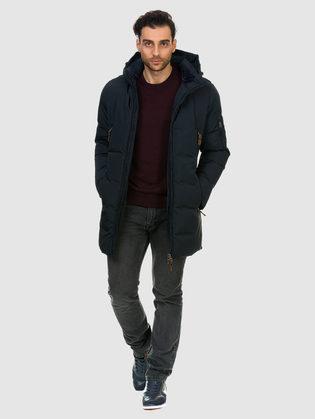 Пуховик текстиль, цвет темно-синий, арт. 26902741  - цена 6990 руб.  - магазин TOTOGROUP