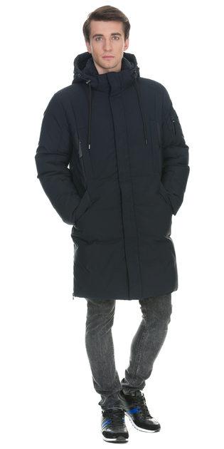 Пуховик текстиль, цвет темно-синий, арт. 26902743  - цена 5590 руб.  - магазин TOTOGROUP