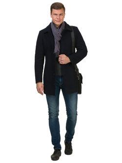 Текстильное пальто 51% п/э,49%шерсть, цвет темно-синий, арт. 26902747  - цена 7990 руб.  - магазин TOTOGROUP