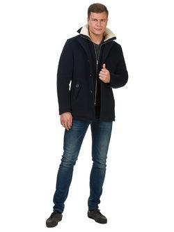 Текстильное пальто 51% п/э,49%шерсть, цвет темно-синий, арт. 26902751  - цена 7990 руб.  - магазин TOTOGROUP