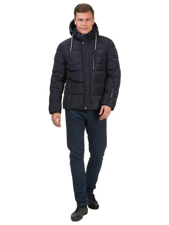 Пуховик текстиль, цвет темно-синий, арт. 26902759  - цена 2990 руб.  - магазин TOTOGROUP