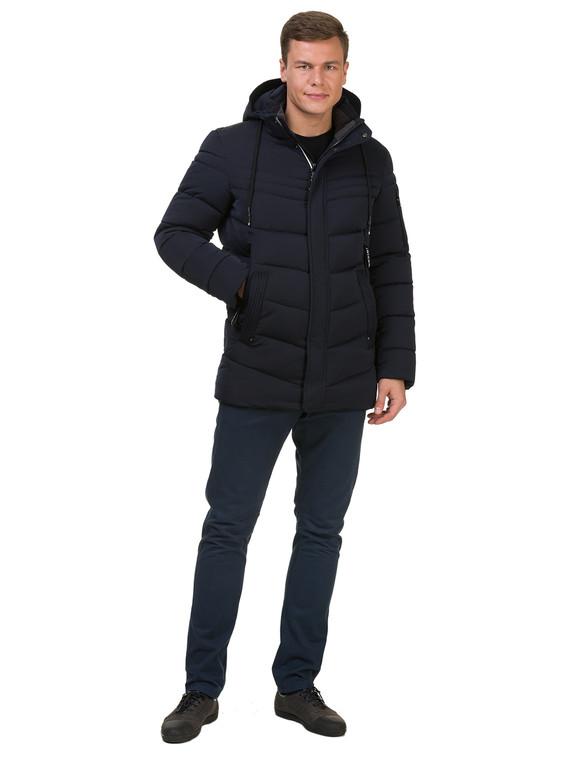 Пуховик текстиль, цвет темно-синий, арт. 26902762  - цена 3390 руб.  - магазин TOTOGROUP