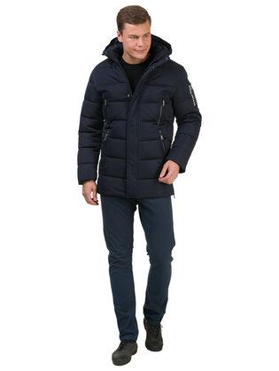 Пуховик текстиль, цвет темно-синий, арт. 26902763  - цена 5890 руб.  - магазин TOTOGROUP