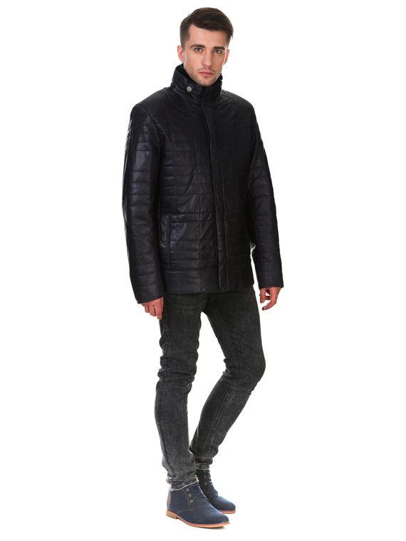 Кожаная куртка кожа , цвет темно-синий, арт. 26902865  - цена 12690 руб.  - магазин TOTOGROUP