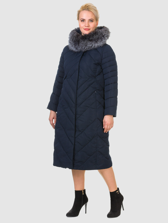 Пуховик текстиль, цвет темно-синий, арт. 26902889  - цена 8490 руб.  - магазин TOTOGROUP