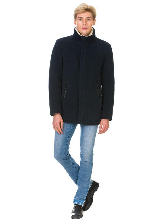 Текстильное пальто 51% п/э,49%шерсть, цвет темно-синий, арт. 26902977  - цена 4990 руб.  - магазин TOTOGROUP