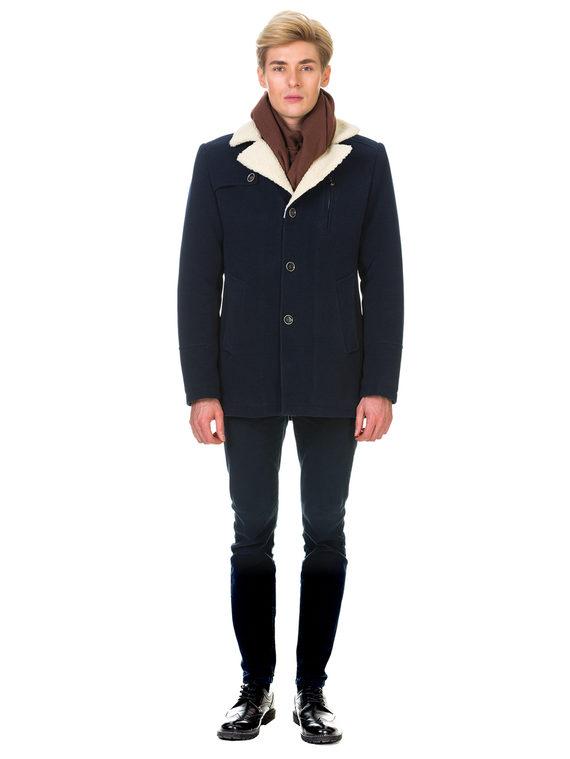 Текстильное пальто 51% п/э,49%шерсть, цвет темно-синий, арт. 26902978  - цена 4990 руб.  - магазин TOTOGROUP