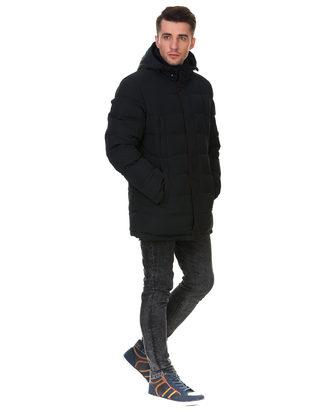 Пуховик текстиль, цвет темно-синий, арт. 26903278  - цена 6290 руб.  - магазин TOTOGROUP