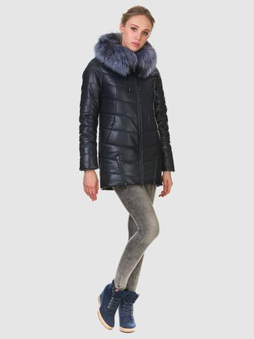 Кожаная куртка эко кожа 100% П/А, цвет темно-синий, арт. 26903466  - цена 12690 руб.  - магазин TOTOGROUP
