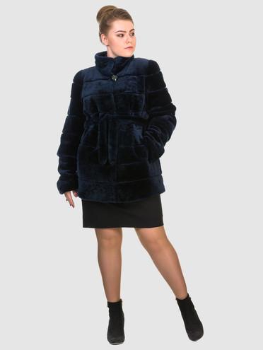 Шуба из мутона мех мутон, цвет темно-синий, арт. 26903491  - цена 26990 руб.  - магазин TOTOGROUP