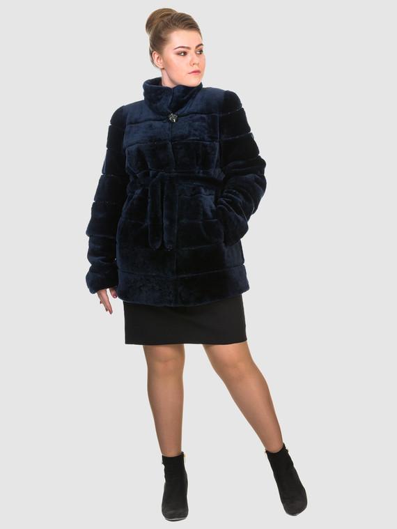 Шуба из мутона мех мутон, цвет темно-синий, арт. 26903491  - цена 18990 руб.  - магазин TOTOGROUP