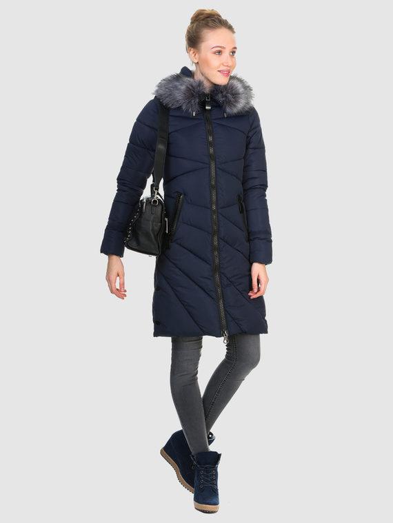 Пуховик текстиль, цвет темно-синий, арт. 26903604  - цена 3990 руб.  - магазин TOTOGROUP