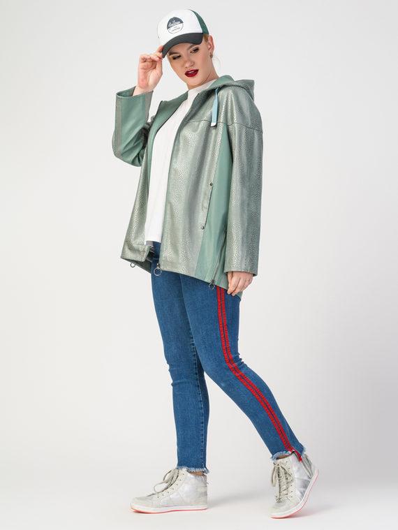 Кожаная куртка эко-замша 100% П/А, цвет светло-зеленый, арт. 27108177  - цена 3990 руб.  - магазин TOTOGROUP