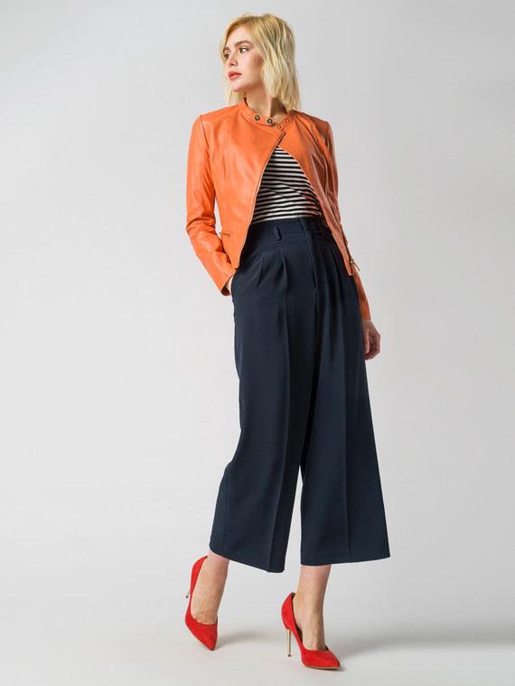 Кожаная куртка кожа , цвет оранжевый, арт. 28005486  - цена 8490 руб.  - магазин TOTOGROUP