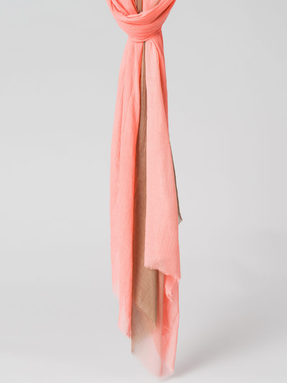Шарф 100% бамбук, цвет коралловый, арт. 28005987  - цена 440 руб.  - магазин TOTOGROUP