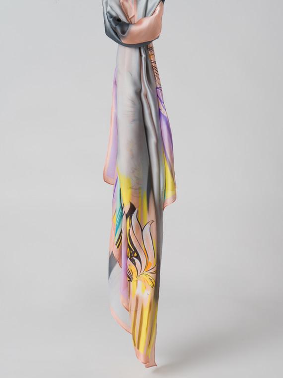 Шарф 80% п\э, 20% шелк, цвет коралловый, арт. 28006126  - цена 1070 руб.  - магазин TOTOGROUP