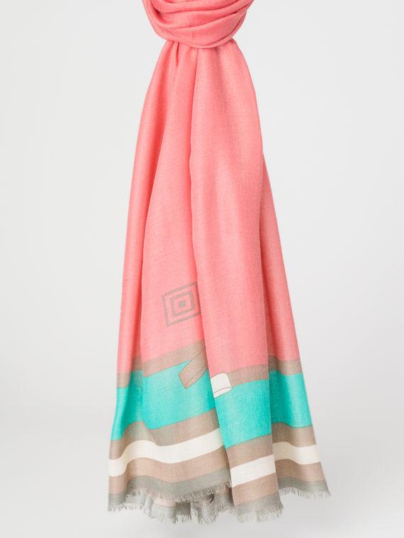 Шарф 100% бамбук, цвет коралловый, арт. 28107928  - цена 990 руб.  - магазин TOTOGROUP