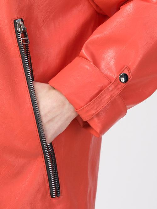Кожаная куртка артикул 28108178/44 - фото 4
