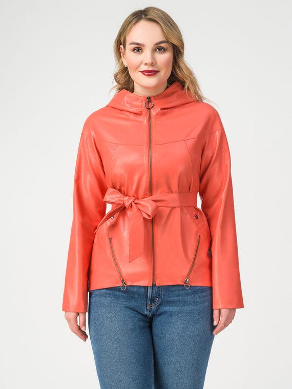 Кожаная куртка эко-кожа 100% П/А, цвет коралловый, арт. 28108302  - цена 6990 руб.  - магазин TOTOGROUP