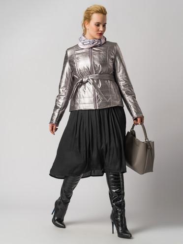 Кожаная куртка эко-кожа 100% П/А, цвет серый металлик, арт. 29005936  - цена 4740 руб.  - магазин TOTOGROUP