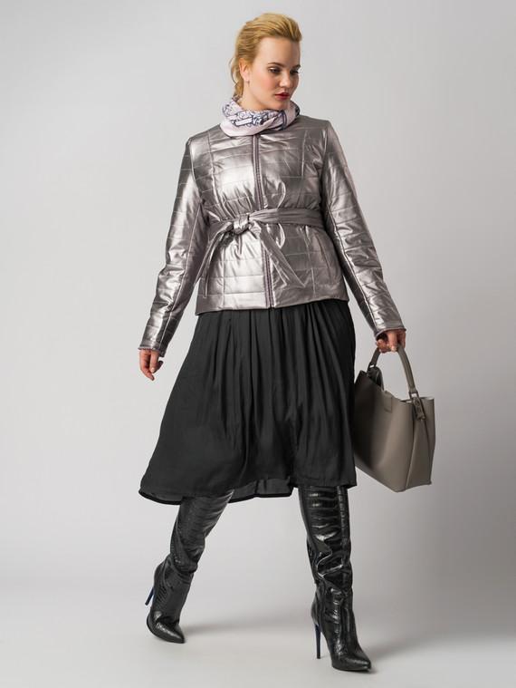 Кожаная куртка эко кожа 100% П/А, цвет серый металлик, арт. 29005936  - цена 4490 руб.  - магазин TOTOGROUP