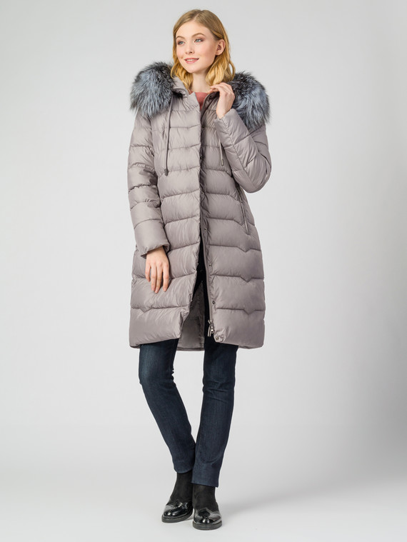 Пуховик текстиль, цвет светло-серый, арт. 29006254  - цена 12690 руб.  - магазин TOTOGROUP
