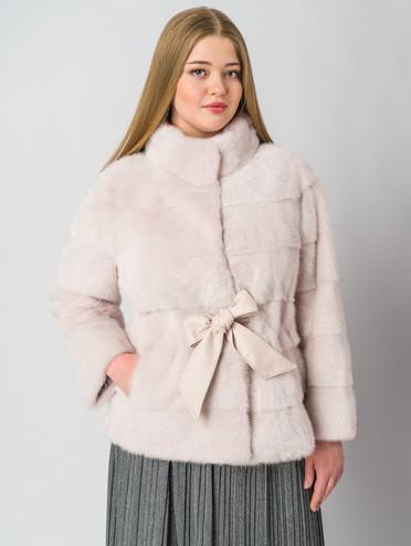 Шуба из норки мех норка, цвет розовый, арт. 29006407  - цена 105990 руб.  - магазин TOTOGROUP