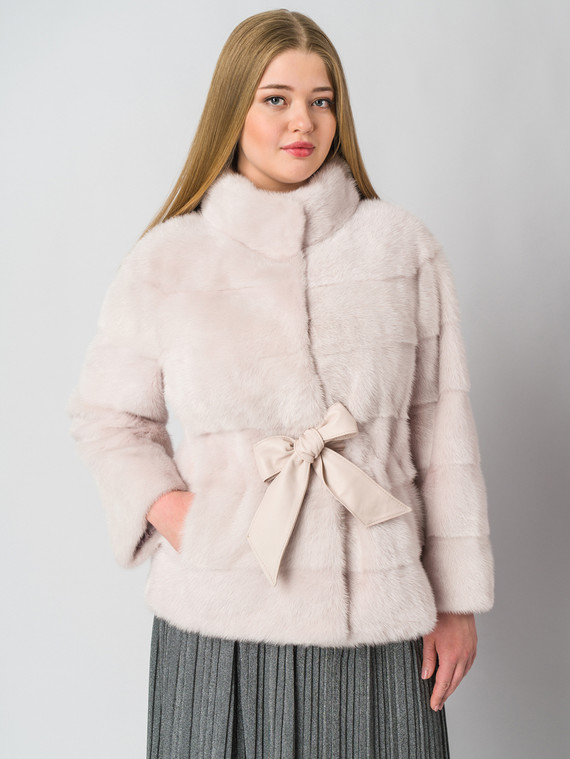Шуба из норки мех норка, цвет розовый, арт. 29006407  - цена 112990 руб.  - магазин TOTOGROUP