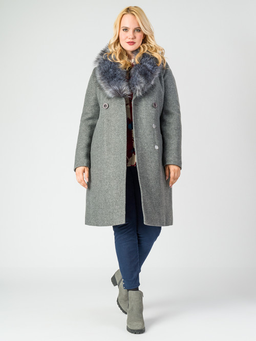 Текстильное пальто артикул 29006811/46 - фото 2