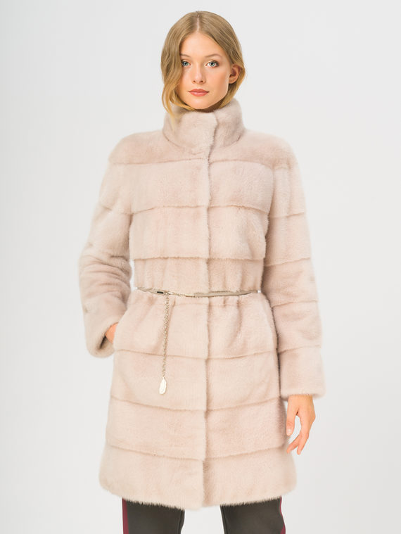Шуба из норки мех норка, цвет розовый, арт. 29007090  - цена 84990 руб.  - магазин TOTOGROUP