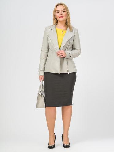 Кожаная куртка кожа , цвет светло-серый, арт. 29106284  - цена 8990 руб.  - магазин TOTOGROUP