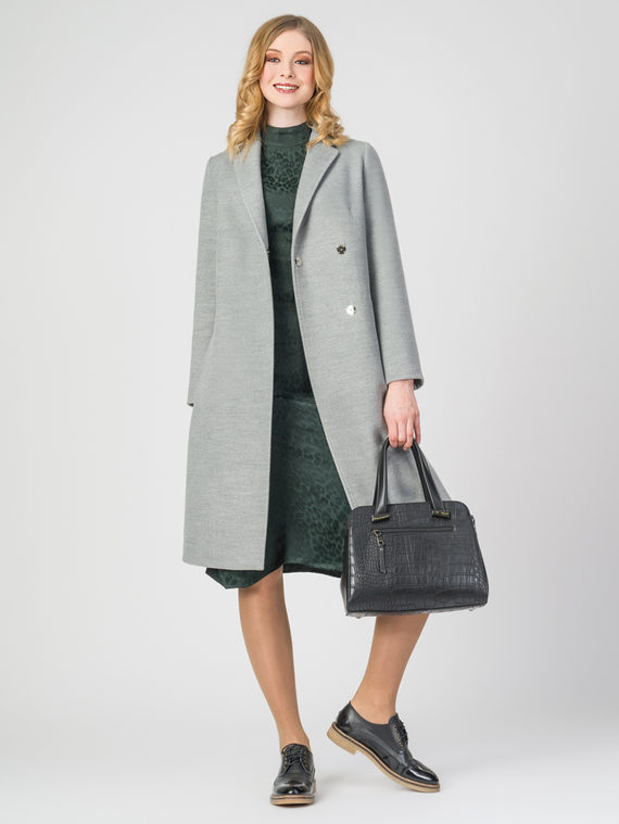 Текстильное пальто 30%шерсть, 70% п.э, цвет светло-серый, арт. 29107899  - цена 4490 руб.  - магазин TOTOGROUP