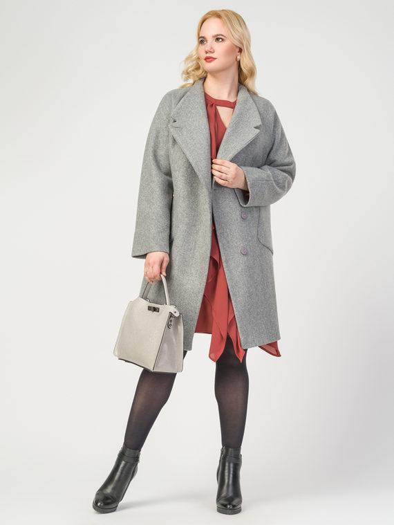 Текстильное пальто 30%шерсть, 70% п.э, цвет светло-серый, арт. 29108085  - цена 4990 руб.  - магазин TOTOGROUP