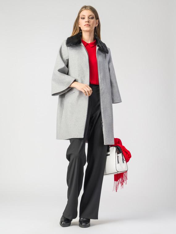 Текстильное пальто 30%шерсть, 70% п\а, цвет светло-серый, арт. 29108107  - цена 5890 руб.  - магазин TOTOGROUP