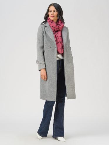 Текстильное пальто 35% шерсть, 65% полиэстер, цвет светло-серый, арт. 29711393  - цена 5890 руб.  - магазин TOTOGROUP
