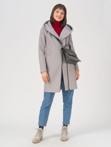 Текстильное пальто 35% шерсть, 65% полиэстер, цвет светло-серый, арт. 29711412  - цена 7990 руб.  - магазин TOTOGROUP