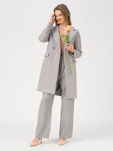 Текстильное пальто 35% шерсть, 65% полиэстер, цвет светло-серый, арт. 29711414  - цена 7990 руб.  - магазин TOTOGROUP