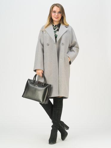 Текстильное пальто 35% шерсть, 65% полиэстер, цвет светло-серый, арт. 29711416  - цена 7990 руб.  - магазин TOTOGROUP