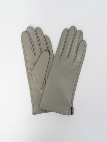 Перчатки кожа, цвет светло-серый, арт. 29810320  - цена 990 руб.  - магазин TOTOGROUP