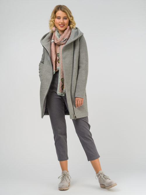 Текстильное пальто артикул 29810650/42 - фото 2