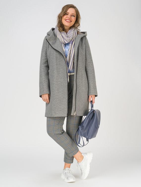 Текстильное пальто 35% шерсть, 65% полиэстер, цвет светло-серый, арт. 29810655  - цена 8990 руб.  - магазин TOTOGROUP